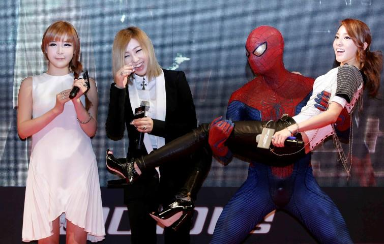 2NE1 and Spider-Man
