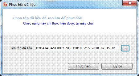 Phục hồi dữ liệu phần mềm kế toán 3TSoft