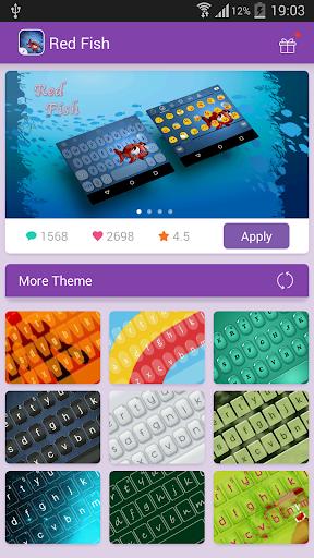 Emoji Keyboard-Red Fish