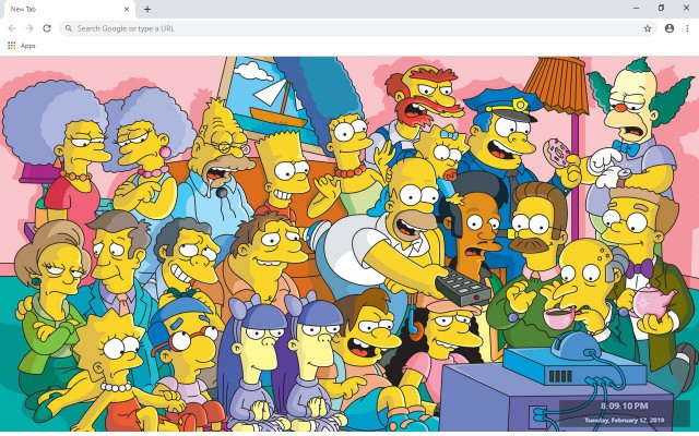 The Simpsons New Tab & Wallpapers Collection