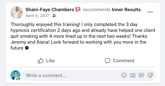 Inner Results testimonial