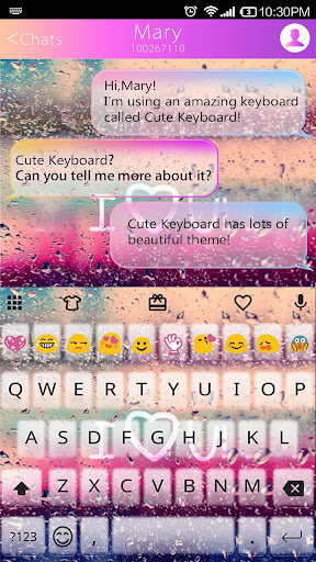 Color Rain Emoji Keyboard ☔️