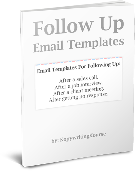 How to write a follow up email that works with templates enter your email and well send you this entire pack of follow up email templates spiritdancerdesigns Images