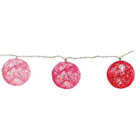 Jolly Light 10 Trådbollar LED Rosa