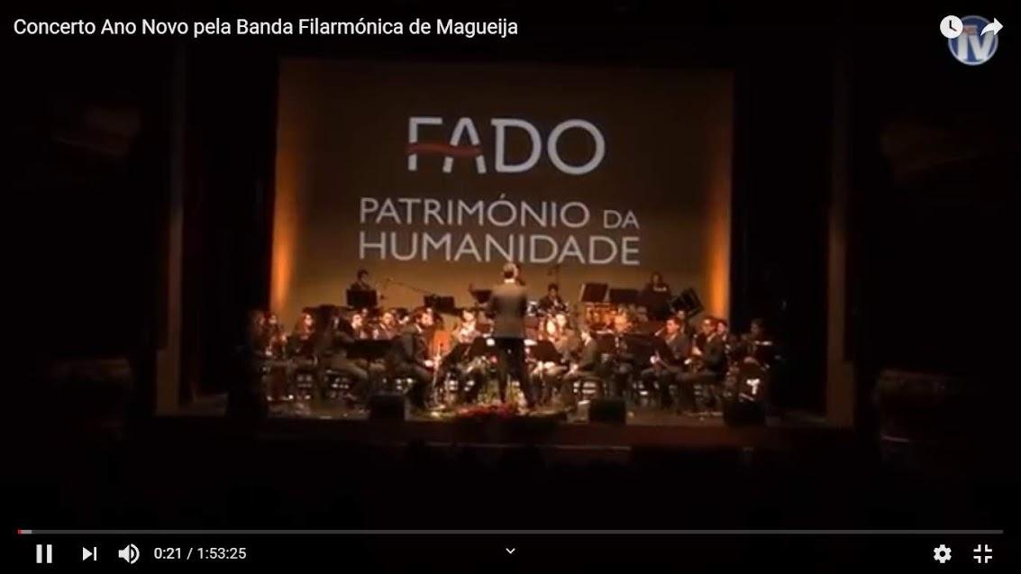 Vídeo - Concerto Ano Novo pela Banda Filarmónica de Magueija - 2019