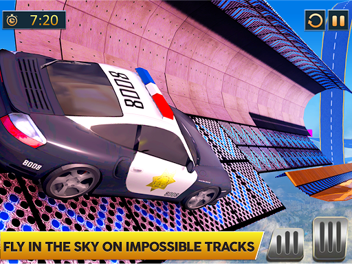 Ramp Police Car Stunts - New Car Racing Games screenshot 7