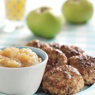 Juicy Pork Patties with Spicy Bramley Apple Sauce