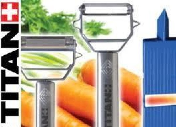 Holding the stem end, shave the carrots lengthwise into thin strips using a Y-shaped...