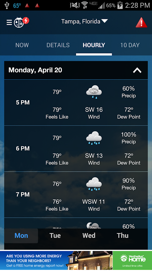 WeatherBug- screenshot