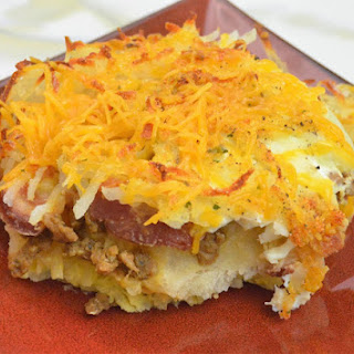 Biscuits & Hash Browns Breakfast Bake