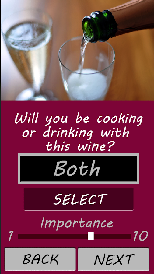 Wine Selection- screenshot