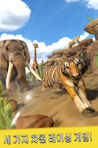 사바나 달리기 . 어린이를위한 동물 시뮬레이터 게임