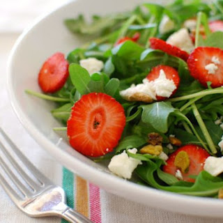 Strawberry, Goat Cheese & Arugula Salad