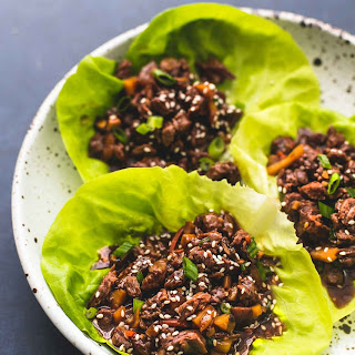 Honey Beef Lettuce Wraps.