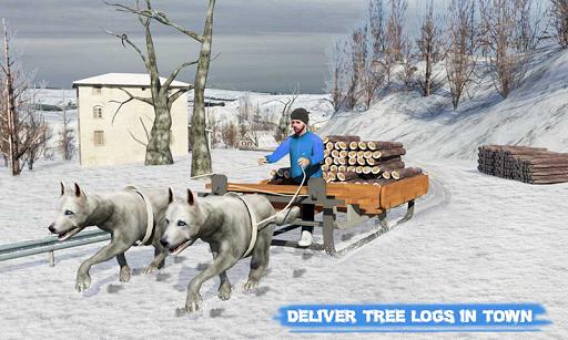 Snow Dog Sledding Transport Games: Winter Sports 1.4 screenshots 4