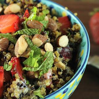 Strawberry Quinoa Salad with Poppyseed Yogurt Dressing.