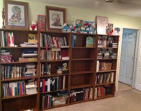 Photo: makin' room on the bookshelves