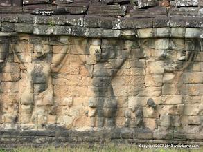 Photo: the terrace wall, Angkor Thom