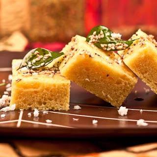 Gujarati Khaman Dhokla | Savory Steamed Lentil Cakes.