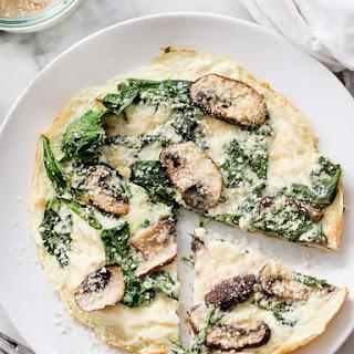 Spinach and Mushroom Egg White Frittata.
