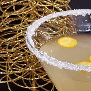 Kumquat Meyer Lemon Martini.