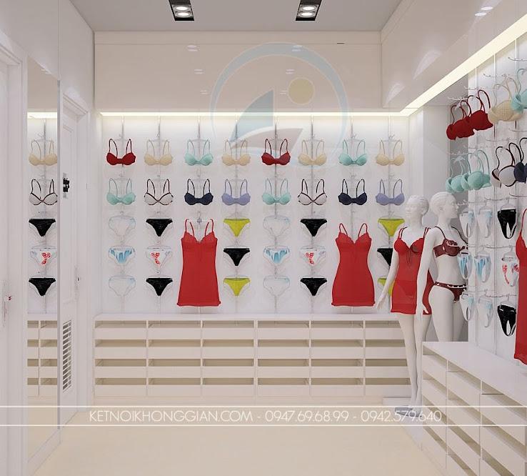 thiết kế shop thời trang nữ tinh tế kín đáo