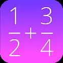 fractions mathématiques icon