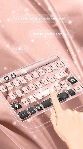 Pink Gold Keyboard Theme 10001004 screenshots 4