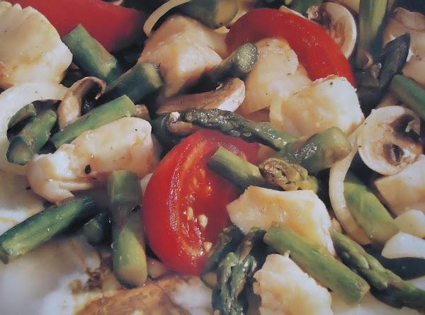Norma's Halibut Asparagus Stir-fry Recipe