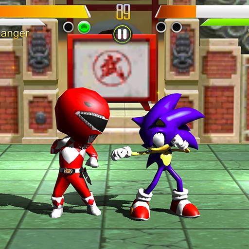 Power Red Rangers Vs Sonic Fighter