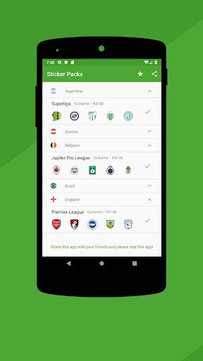 Football WAStickerApps 2.7.2 screenshots 1