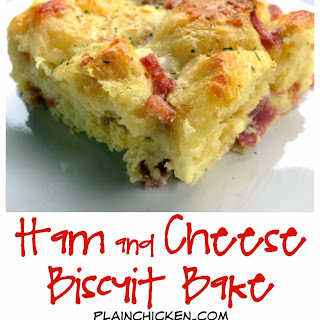 Ham & Cheese Biscuit Bake