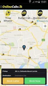 Online Cabs - Taxi Sri Lanka screenshot 2