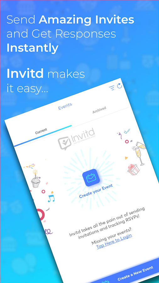 Invitd invitation maker text rsvp android apps on google invitd invitation maker text rsvp screenshot stopboris Images