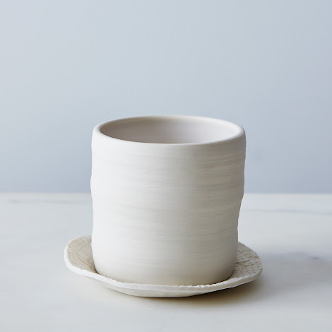 Hand-thrown Ceramic Planter & Dish