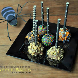 Mini Chocolate Covered Apples.