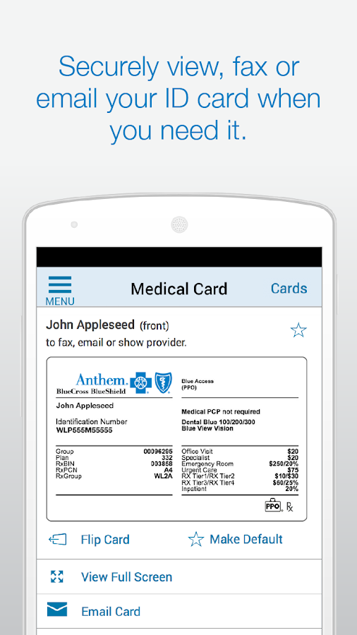 Anthem Blue Cross Blue Shield- screenshot