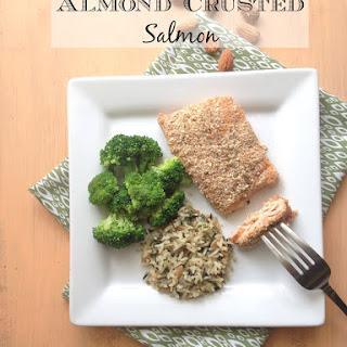 Almond Crusted Salmon.