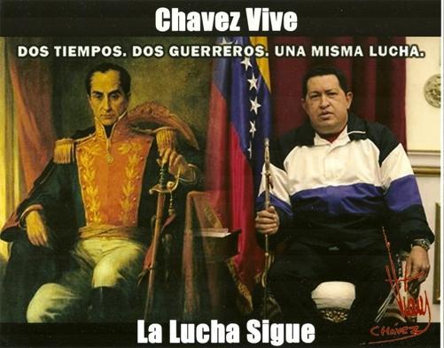 Resultado de imagen para Bolivar y Chávez