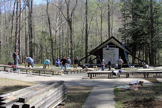 Photo: The work was to refurbish the Elkmont Campground's Amphitheater by replacing the seats and painting the projection building