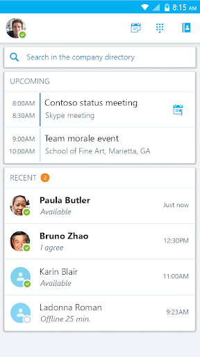 Skype for Business for Android 6.27.0.18 screenshots 4