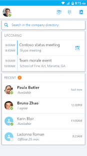 Skype for Business for Android Screenshot 4