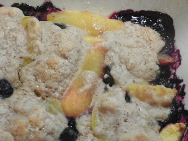 Margi's Guilt-free Blueberry Peach Cobbler Recipe