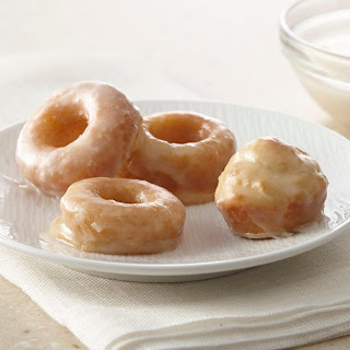 Mini Baked Donuts with Vanilla Glaze.