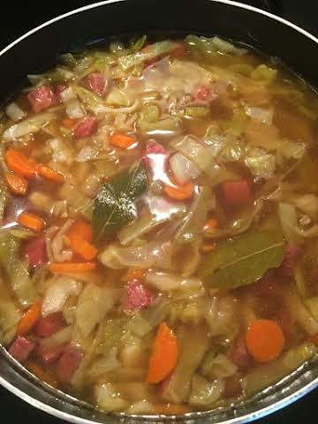 Corned Beef and Cabbage Soup (low carb)