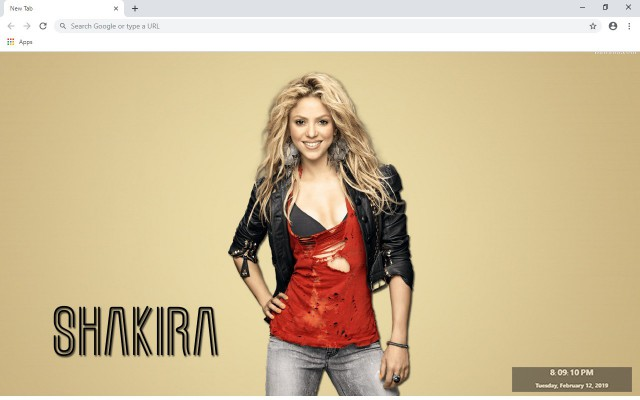 Shakira New Tab & Wallpapers Collection