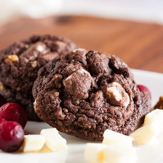 Chocolate Cranberry Spice Cookies