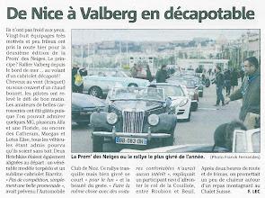 Photo: Le quotidien Nice-Matin a consacré un article aux givrés de la Prom' des Neiges dans son édition du lundi 11 février 2013.