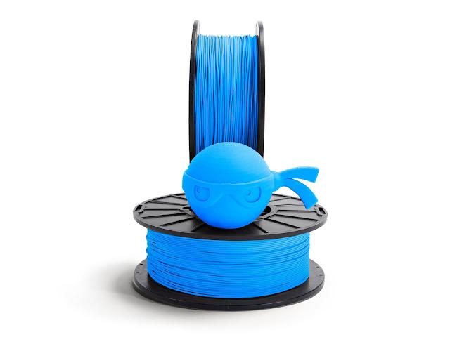 NinjaTek Chinchilla Sky Blue TPE Filament - 2.85mm (0.5kg)