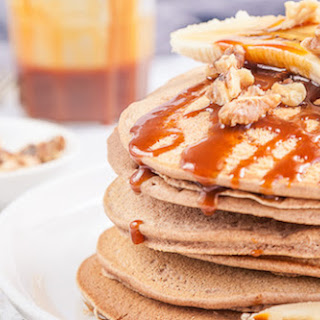 Buckwheat Pancakes With Salted Caramel Sauce